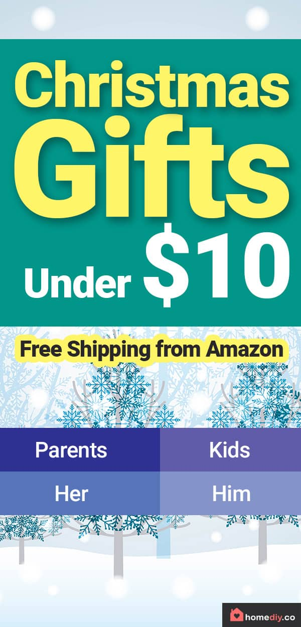Get the best Christmas Gifts Ideas Under $10 for all your family, for boyfriend, for your husband, for grandma, for kids and for friends. #christmas #christmasgifts