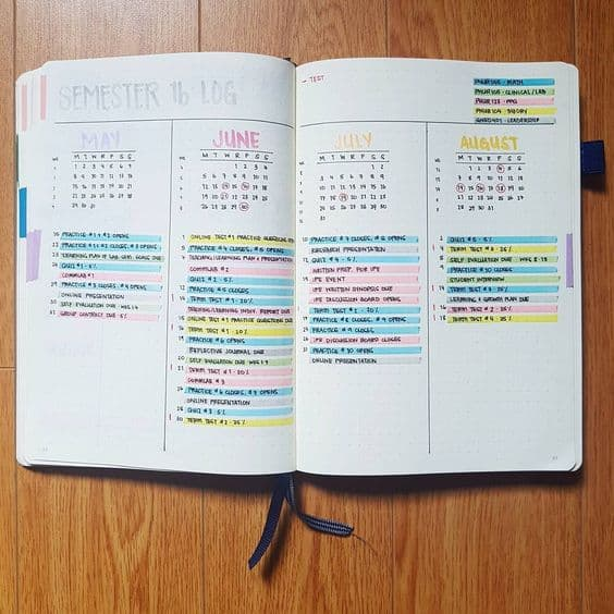 f you want to achieve all your study goals, so it's high time to think about starting a Bullet Journal to keep track of your progress and be organized. #bulletjournal #bujo #backtoschool