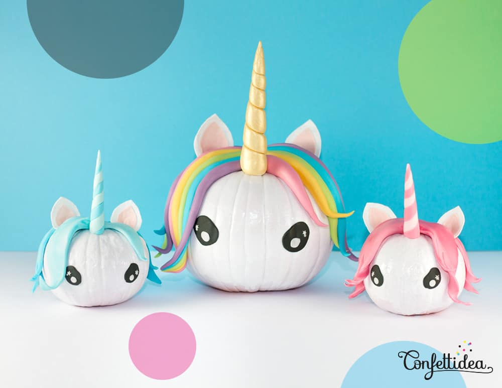 Magical Pumpkin Unicorns - Looking for original no carve DIY pumpkin decorating ideas? Use them for Halloween & Thanksgiving for an amazing fall decor. Home DIY for Fall holidays