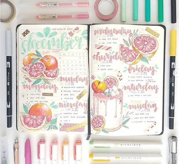 11 Bullet Journal Ideas for Weekly Layouts. If you are used to more detailed planning, the weekly layouts will come in handy. We offer several bright and unusual options for your bujo design! #bujo #bulletjournal #weeklyspread #planning #organization #planneraddict #plannergirl