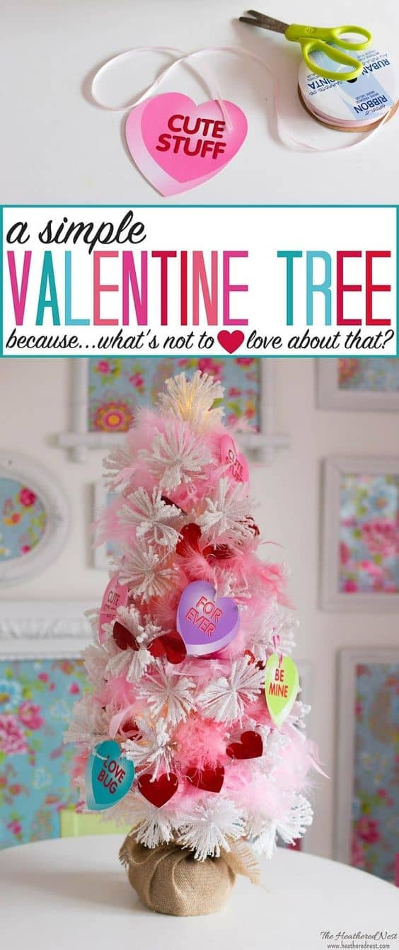 Simple Valentine's Day Home Decor Ideas. Are you looking for simple Valentine's Day home decor ideas? Check these awesome Valentine's DIY decorations, save them to your Valentine's board on Pinterest and try to create them this year! #valentines #valentinesday #decoratingideas #homedecor #diy #decorations