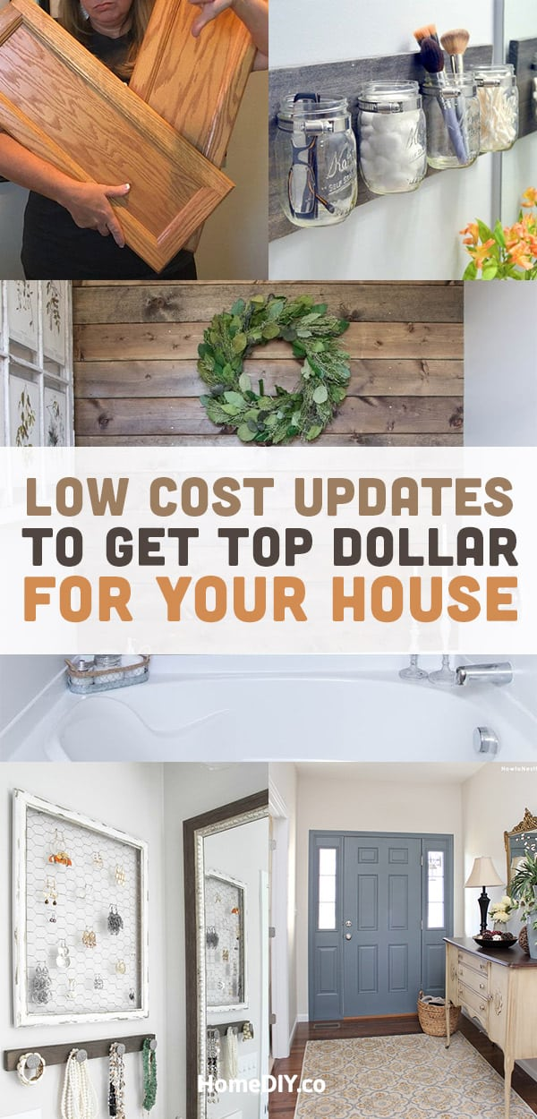 DIY Projects for the Home – How to Update House on a Budget. You don't need to spend much money for home improvements if you get inspired by this collection of DIY projects for the home. Update house on a budget! #diy #diyhomedecor #homedecor #homedecorideas #decoration #frugal #savemoney