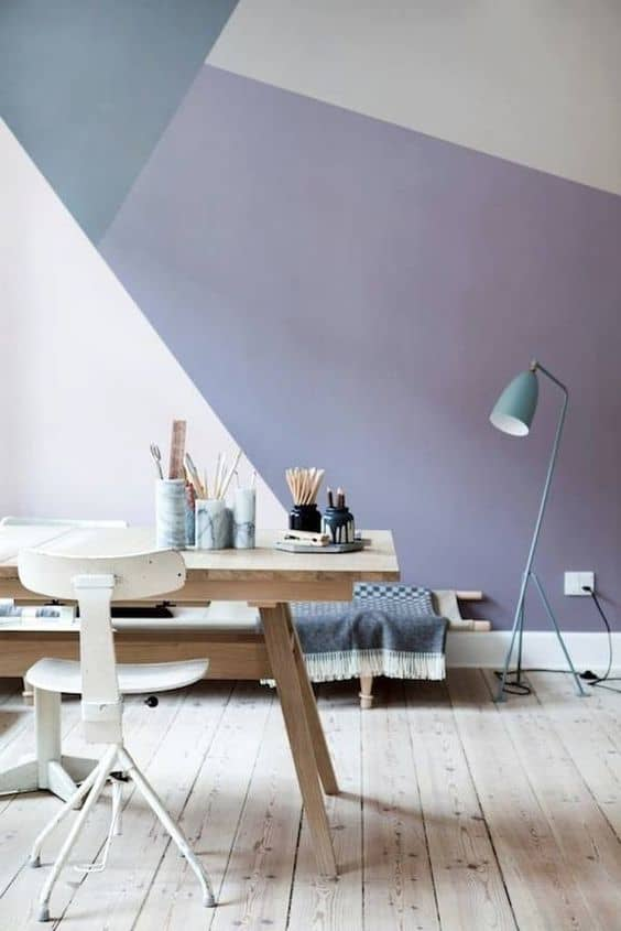 Geometric Wall Paint Design Ideas With Tape 2019 Trends Home Diy