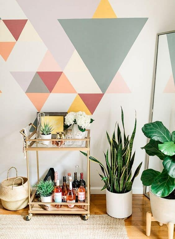 Geometric Wall Paint: Design Ideas With Tape (2020 Trends ...