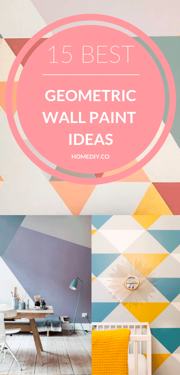 Geometric Wall Paint: Design Ideas With Tape. Looking for ideas of geometric wall paint design? This is the best place for inspiration, and after reading this article, you'll be able to implement your wall paint design ideas with tape like a pro! DIY geometric mural paint. Geometric Wall Art ideas #wallart #walldecor #wallpaper #homedecor