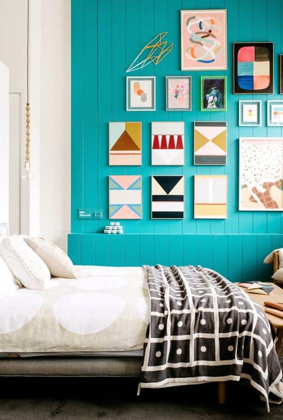 Geometric Wall Paint: Design Ideas With Tape. Looking for ideas of geometric wall paint design? This is the best place for inspiration, and after reading this article, you'll be able to implement your wall paint design ideas with tape like a pro! DIY geometric mural paint. Geometric Wall Art ideas #wallart #walldecor #wallpaper #homedecor #diy