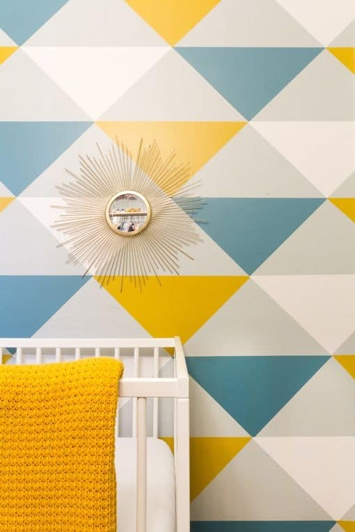 Geometric Wall Paint Design Ideas With Tape 2020 Trends Home Diy