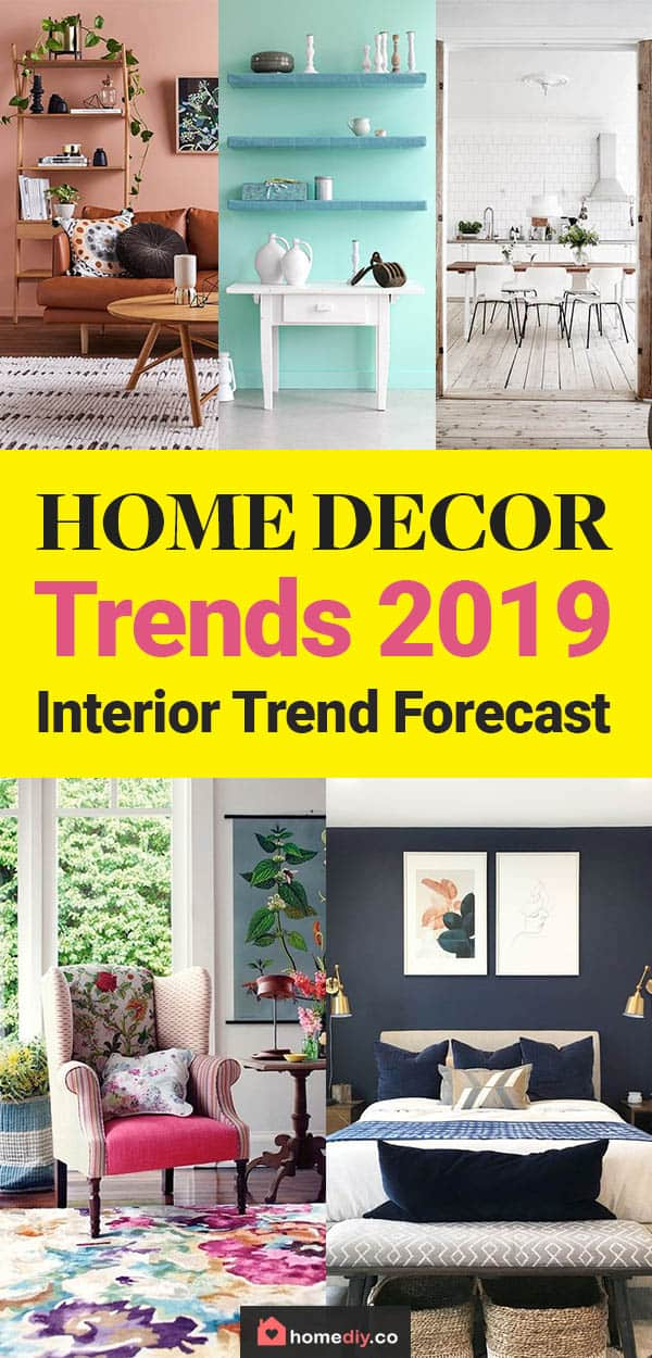 This is home decor and interior trends forecast for 2019 for the best colors, furniture design, wall decoration and flooring most popular styles this year! #homedecor #decor #homedecorideas #homeimprovement #interiordesign #interior #interiordesignideas #design #designideas