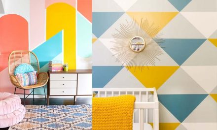 Geometric Wall Paint: Design Ideas With Tape (2021 Trends)