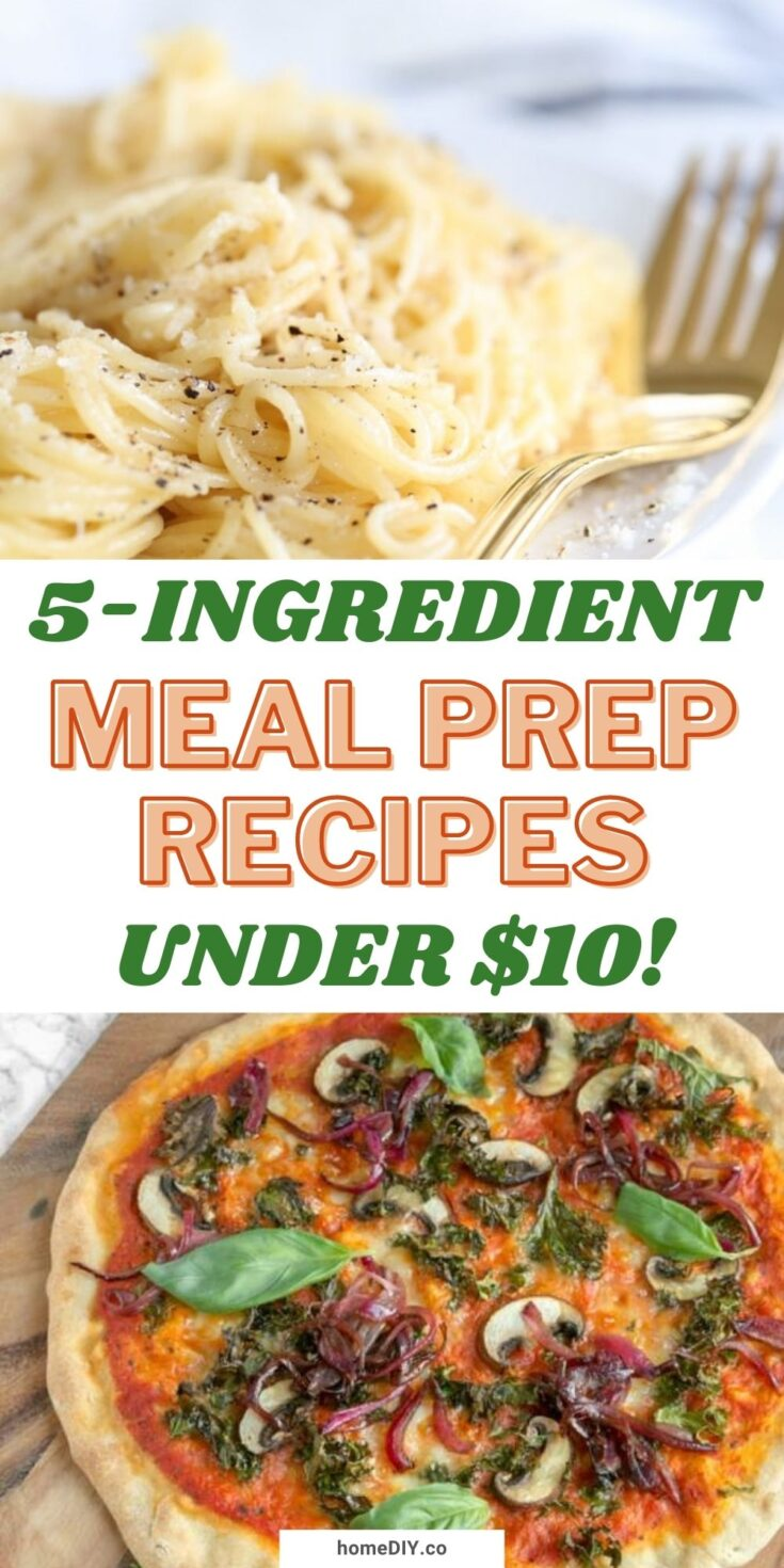 Affordable 5-Ingredient Meal Prep Recipes for Less Than $10!