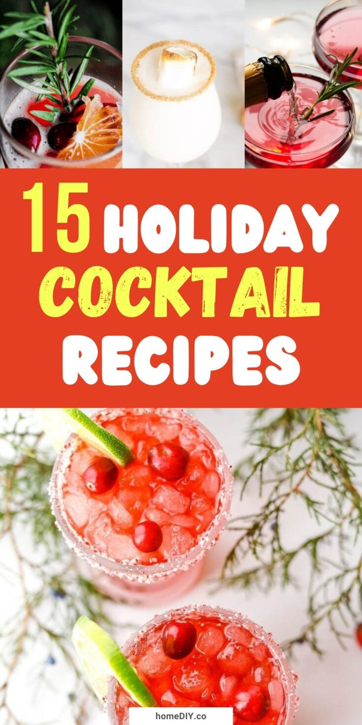 15 Festive Holiday Cocktail Recipes